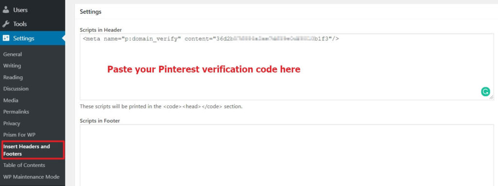 How to Verify Pinterest in WordPress: A Step by Step Guide (2019) 6
