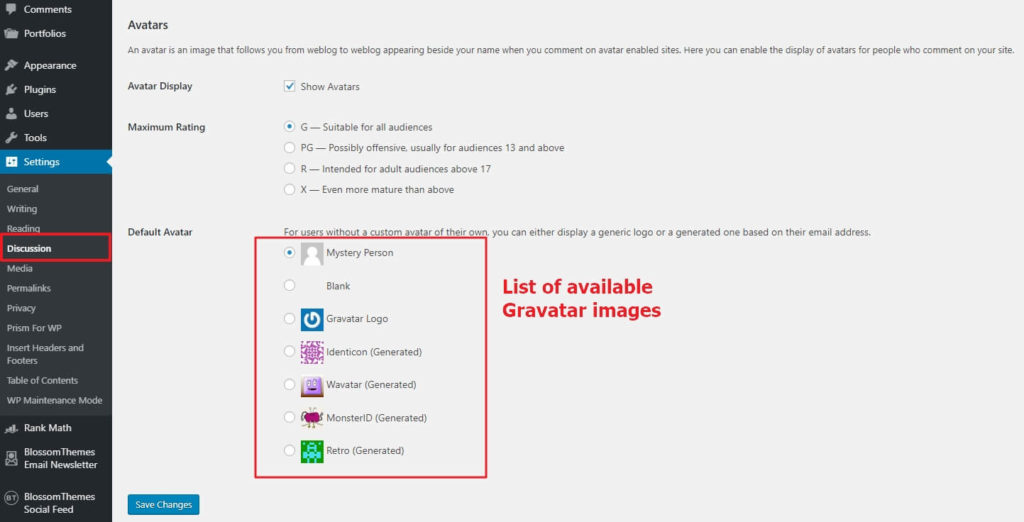 How to change the Default WordPress Gravatar image? 3