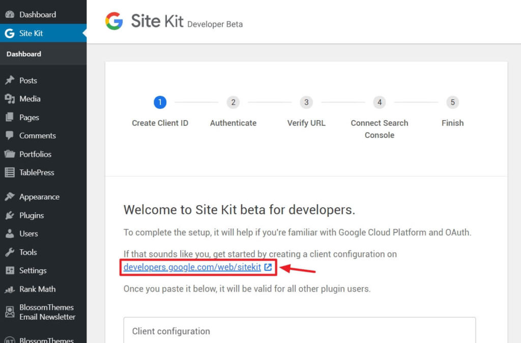 How to install and configure Google Site Kit in WordPress? 5
