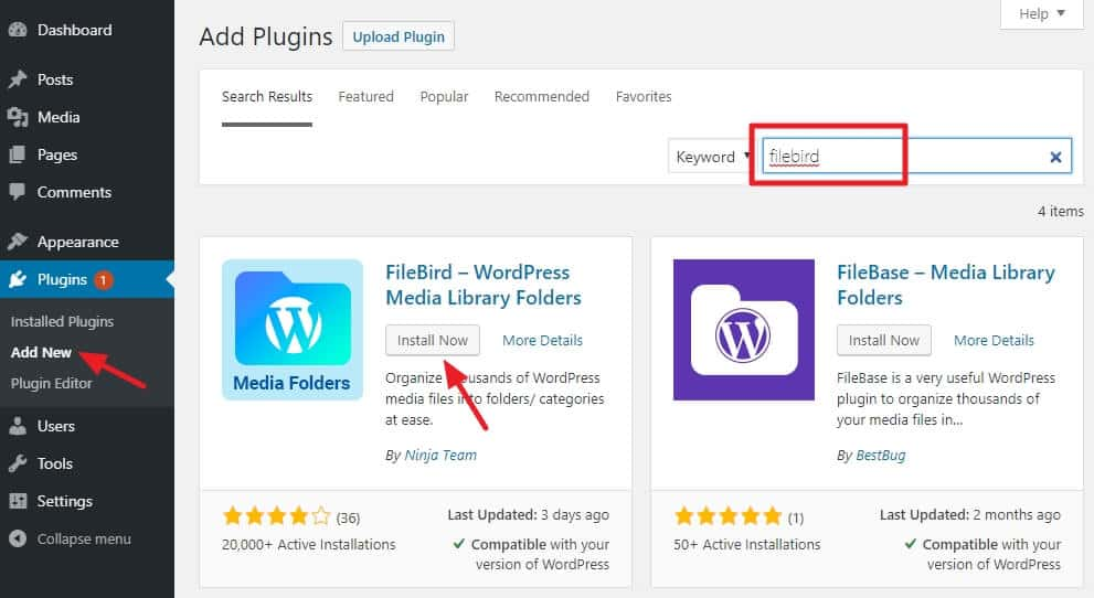 How To Organize Your WordPress Media Library 2