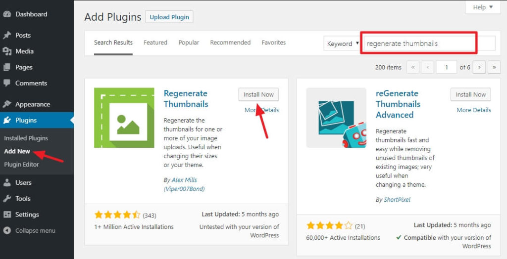 How to Regenerate Thumbnails in WordPress 4