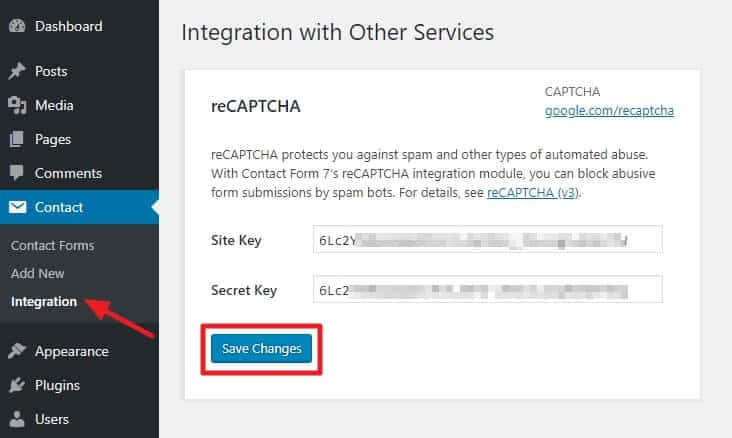 How to add Google reCAPTCHA in Contact Form 7? 6