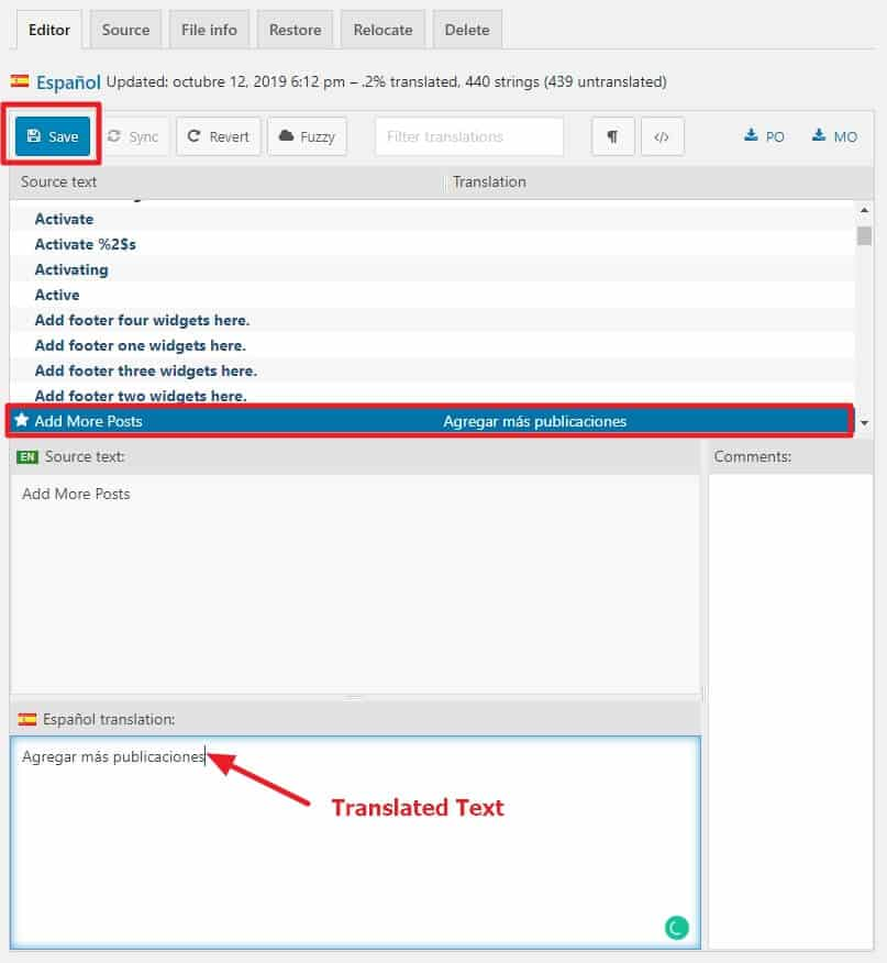 How to Translate WordPress Themes and Plugins with Loco Translate? 9