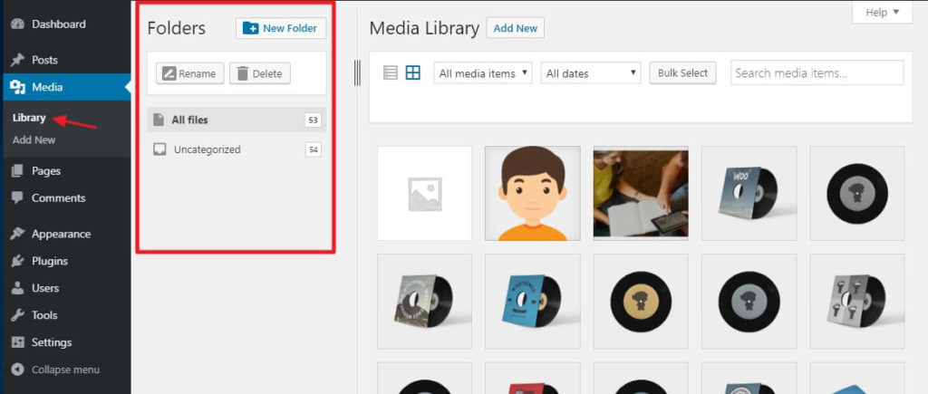 How To Organize Your WordPress Media Library 3