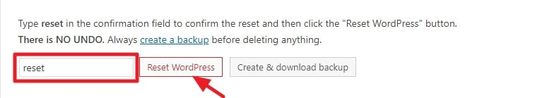 How to Reset a WordPress Site – Beginner's Guide 2