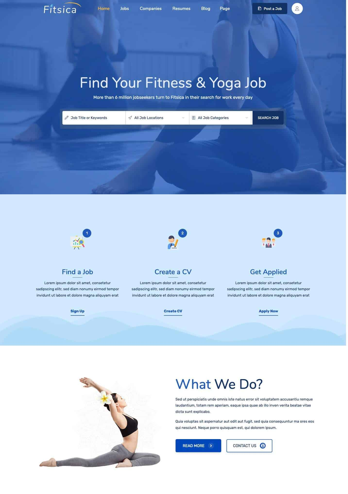 Fitsica WordPress Theme