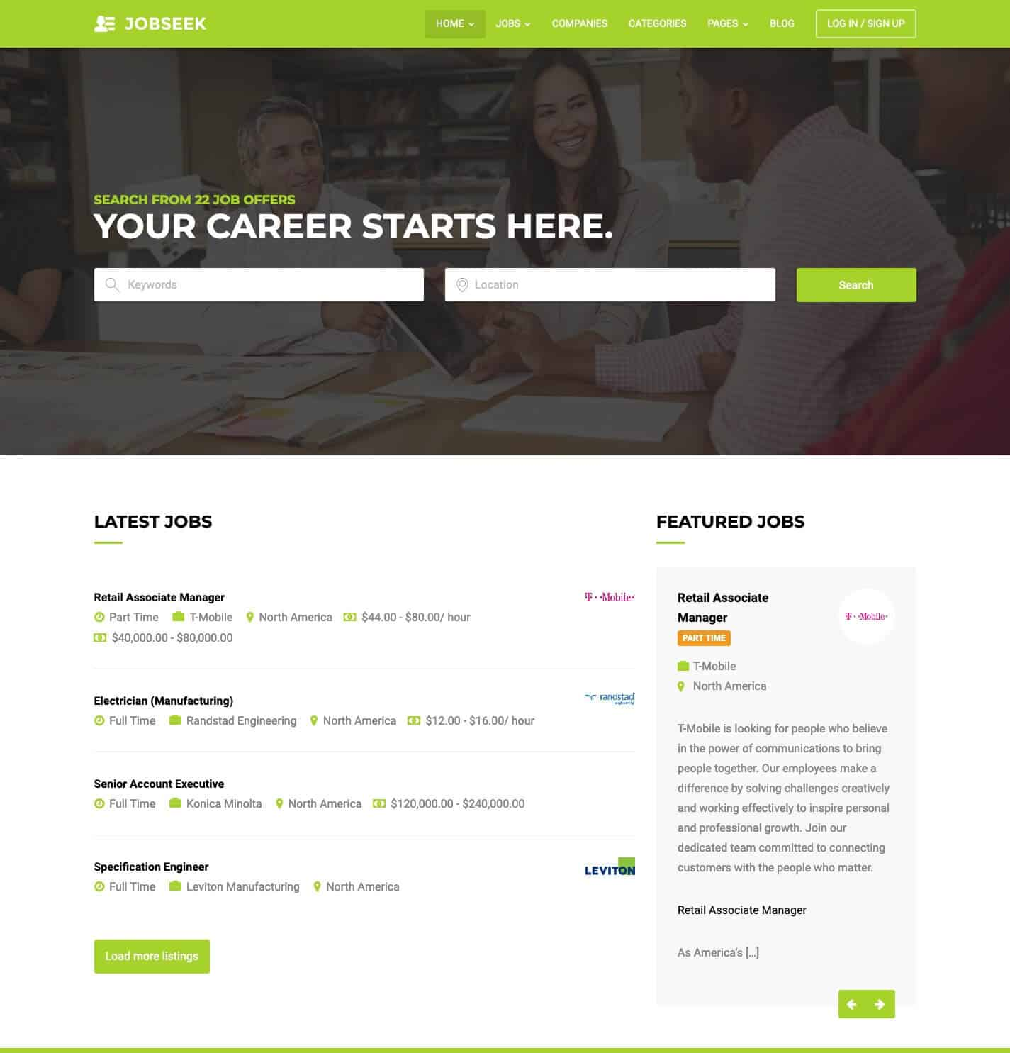 Jobseek WordPress Theme