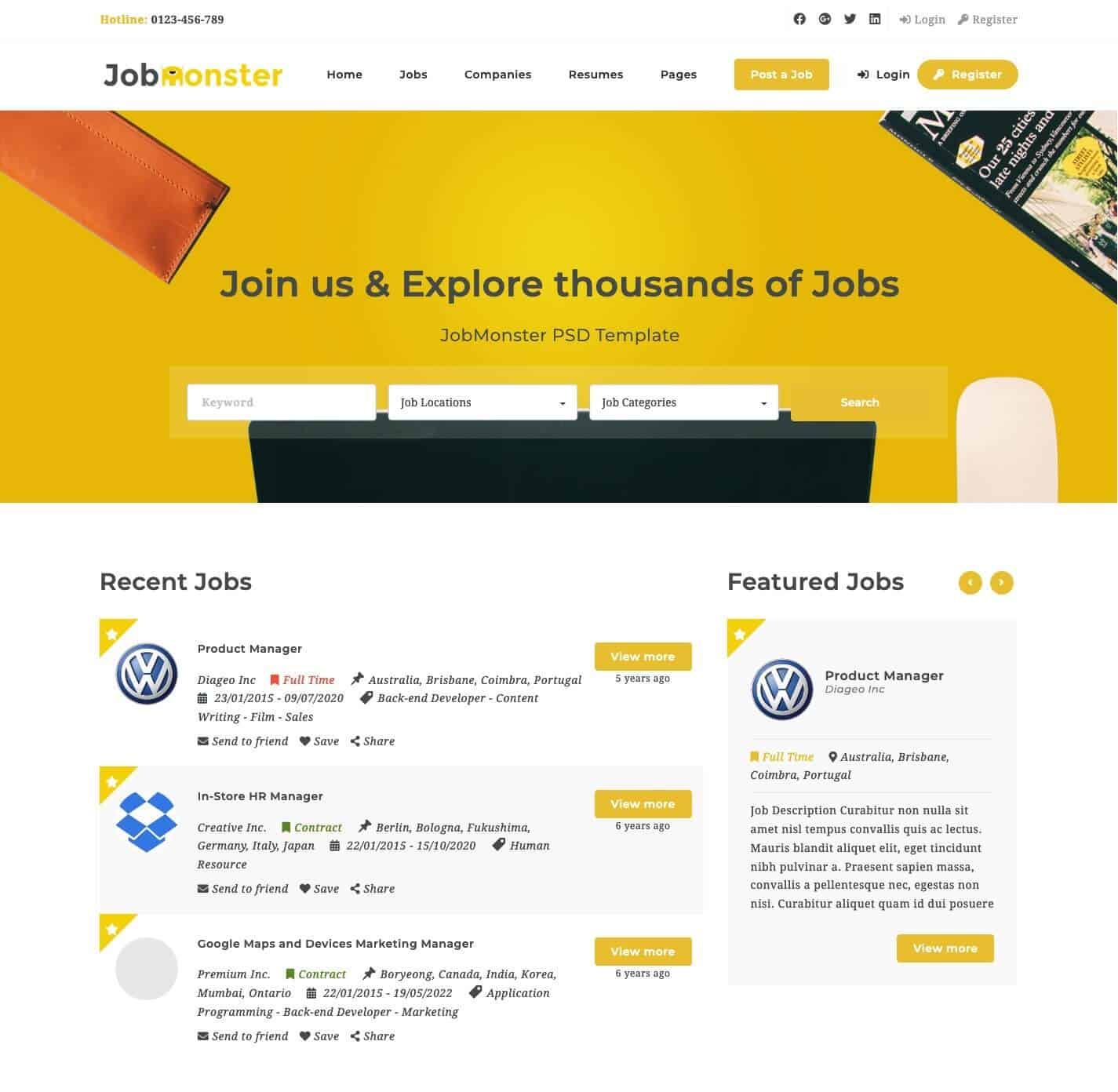 JobMonster WordPress Theme